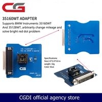 35160WT CG Pro 9S12 키 프로그래머 용 어댑터 주행 거리계 재설정 마일리지 수정 빨간색 점 문제 해결 무료 배송
