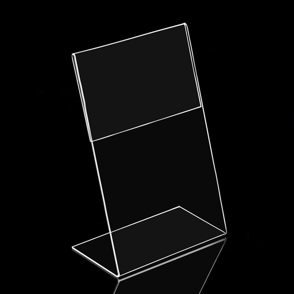 5PCS Acrylic Transparent Card Holder Stand Desk Sign Label Frame Display Paper Card Holders A6 1.3mm Price Label Holder Stand