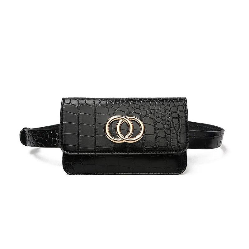 Women Small Waist Bag Crocodile Grain Fanny Pack Mini Phone Pouch Female Fashion Waist Belt Bag  Alligator Print Bum Bags A119