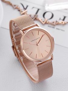Full-Rose-Gold Band Wrist-Watch Quartz-Movement Stainless-Steel Japan Waterproof Women