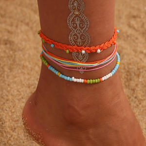 Anklets Foot-Jewelry Multilayer Boho Beach Chain Leg Star Vintage Women Summer for Moon