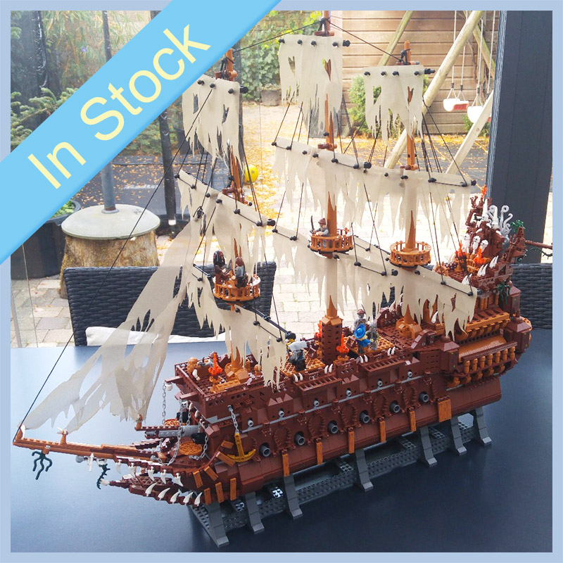 16016 Pirates of the Caribbean Movies Series MOC The Flying Netherlands Building Blocks Bricks Kids Toys Christmas gift 83015