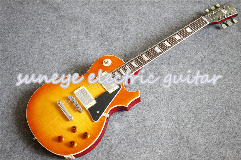 China OEM Suneye Electric Guitar Boston Sunset Fade Finish Guitarra Electrica With Black Pickguard In Stock image