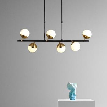Personalidad creativa Diseño de Milán 6 cabezas réplicas Bolle lámpara G4 LED bola de vidrio lámpara colgante para sala de estar restaurante Bar