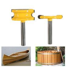 2Pcs 1/4 Inch Shank Flute Bead Router Bits Set Wood Cutter Woodworking Tool Circular arc T-shaped knife floor knife panel cutter цена 2017