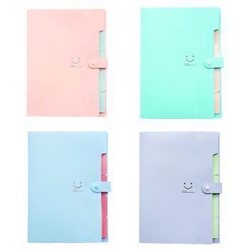 5 kieszeni rozszerzenie pliku foldery A4 rozmiar litery zamknięcie zatrzaskowe akordeon Folder papierowy Organizer do dokumentów zestaw) tanie i dobre opinie CN (pochodzenie)