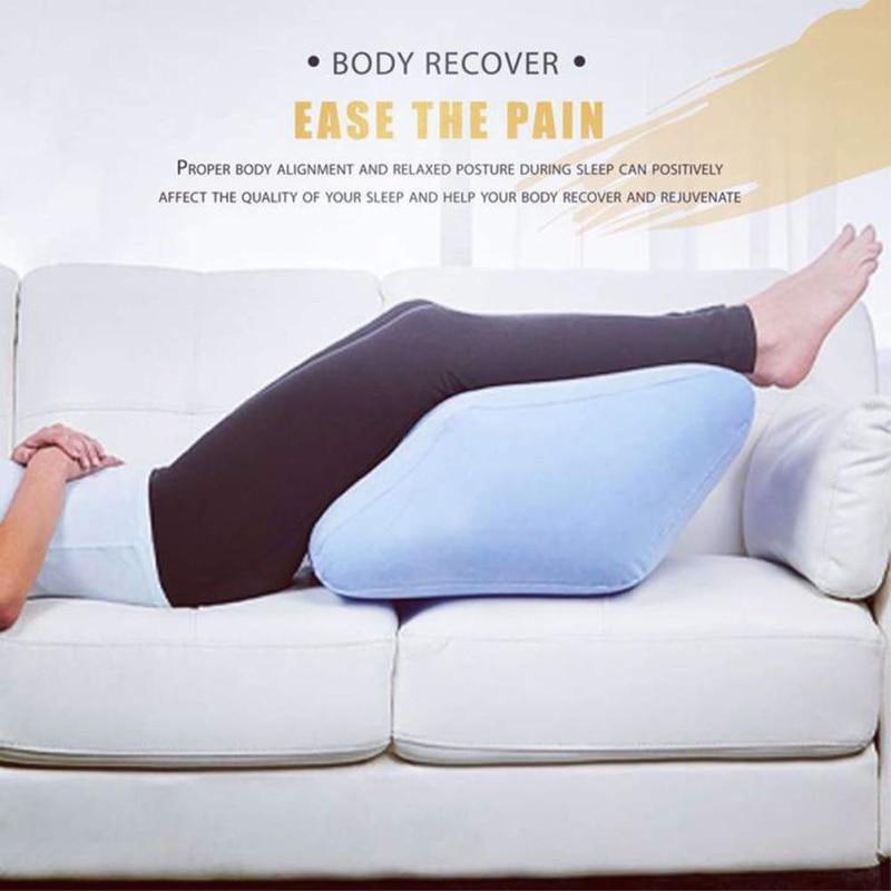 Dropship-Inflatable-Leg-Pillow-Bed-Wedge-Pillow-Leg-Elevation-Back-Lumbar-Support-Cushions-Waist-Support-Pad