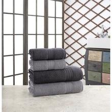 ÖZENEV Hirry 70x135 cm 50x85 cm 4'lü Bath Towel Set Anthracite Gray