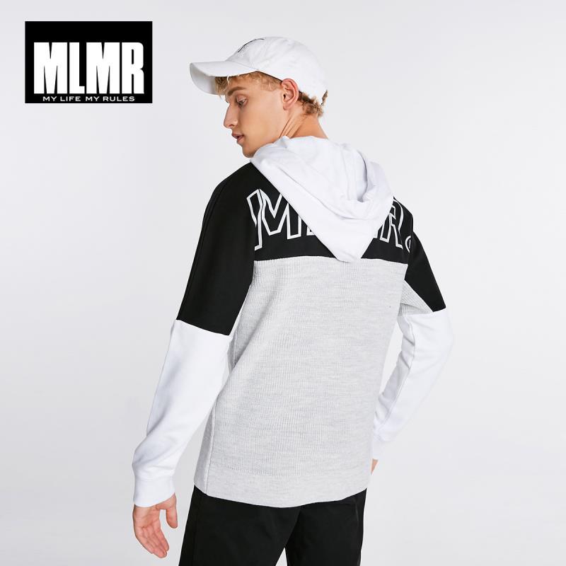 JackJones Men's Trend Color Contrast Letter Printed Hooded Sweater Woolen Hoodie Pullover Top Menswear 218325519
