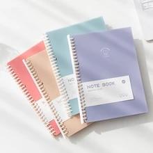 Yisuremia caderno folha solta a5 b5, fichário álbum com 80 folhas para caderno, diário, planejador, bloco de notas para escola, fornecedores de papelaria