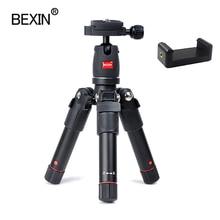 Camera mini tripod portable aluminum Travel compact lightweight flexible camera stand mount for DSLR camera smart mobile phone