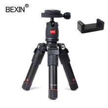 Mini trípode de cámara portátil de aluminio de viaje compacto ligero flexible soporte de cámara para DSLR Cámara teléfono inteligente