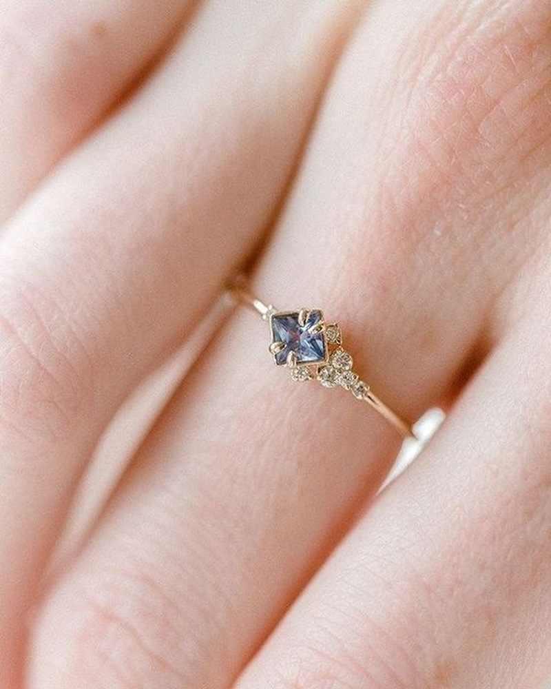 พลอยแชมเปญเพชรรูป Fine Rhinestone อัญมณีแหวน Zircon 925anillos เงิน 14 K Gold เครื่องประดับแหวนพลอย