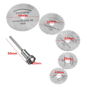 Image 2 - HSSใบเลื่อยตัดแผ่น 1 MandrelสำหรับDremelเครื่องมือโรตารี่สำหรับDremelโลหะใบมีด