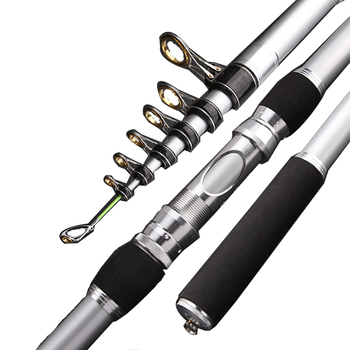 2.7 M-4.5 M Travel Telescopic Fishing Rod Carbon Surf Rod Ultralight High Quality  Hand Fishing Lure Rod Ocean Casting Rod fast 1 8m 2 1m 2 4m 2 7m carbon spinning casting m power telescopic fishing rod lure rod 7 28g 12 25lb travel trout rod