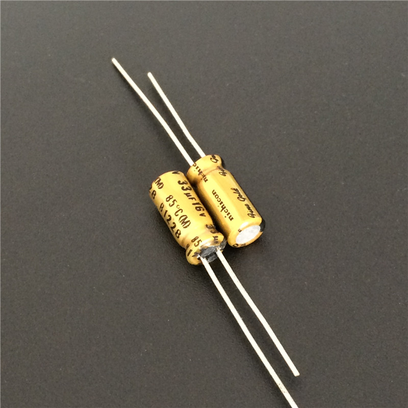 5pcs/50pcs 33uF 16V NICHICON FG(Fine Gold) 5x11mm 16V33uF Muse Top Grade Audio Capacitor