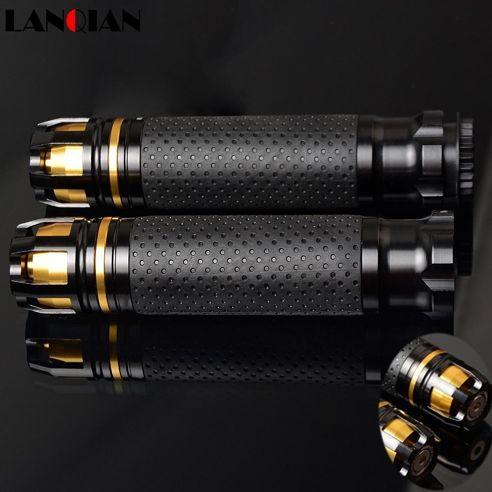 Universal Motocross CNC 22 25 28MM Motorcycle Handle Bar Caps Handlebar Grips For Grom Msx125 Fz6r Cb500f Cb600 Hornet 900 Gw250