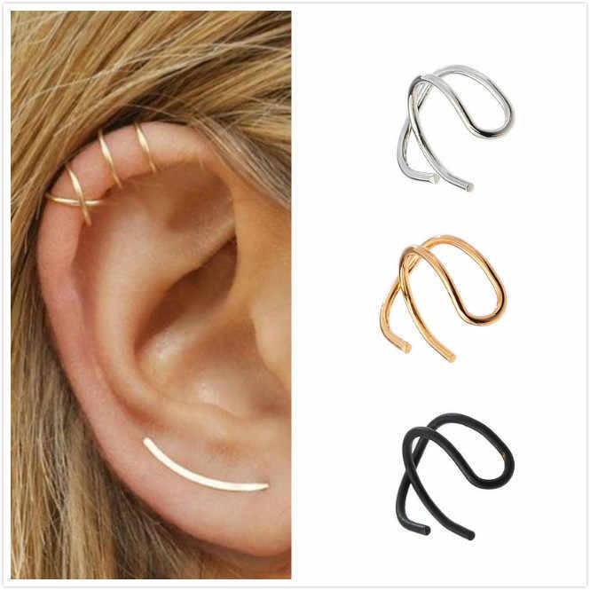 2019 vintage clip em brincos sem piercing orelha cuff pendientes de clip feminino brincos jaqueta de orelha envoltório earcuff brincos
