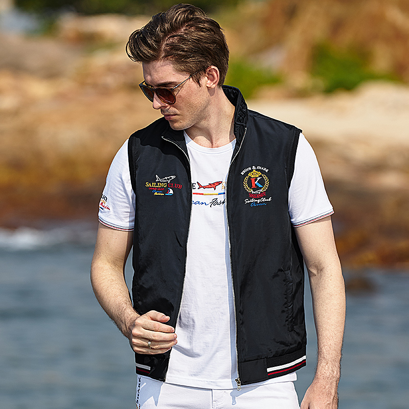 Male Vest Casual Fashion Thin Cotton Inner Solid VEST Embroidery All Year Outerwear Zipper Waistcoat Sleeveless Jacket Size 3xL
