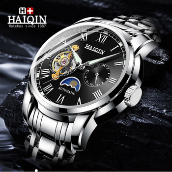 HAIQIN Mens Watches Top Brand Men Mechanical Watch Automatic Fashion Luxury Luminous Military Male Clock Relogio Masculino 2019 carnival automatic submariner watch men sport diving mens mechanical watches top brand luxury military wristwatch male clock