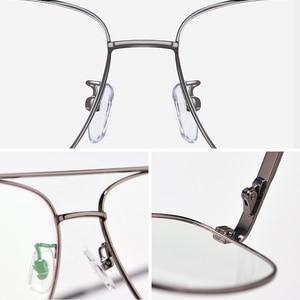 Image 4 - High Quality Prescription Frame Glasses for Men Transparent Clear Eyeglasses Frame Optical Myopia Spectacles Pilot Style 2019
