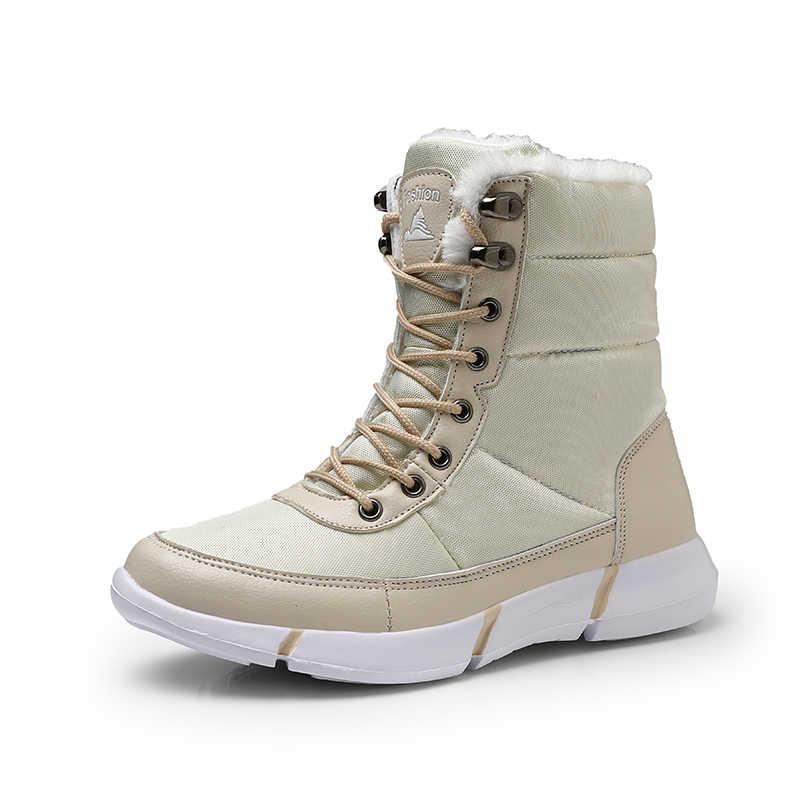 Kar kadın botları kürk düz ayakkabı kadın kış çizmeler yuvarlak ayak lastik çizmeler kadın yağmur kış 2019 yeni artı boyutu 12