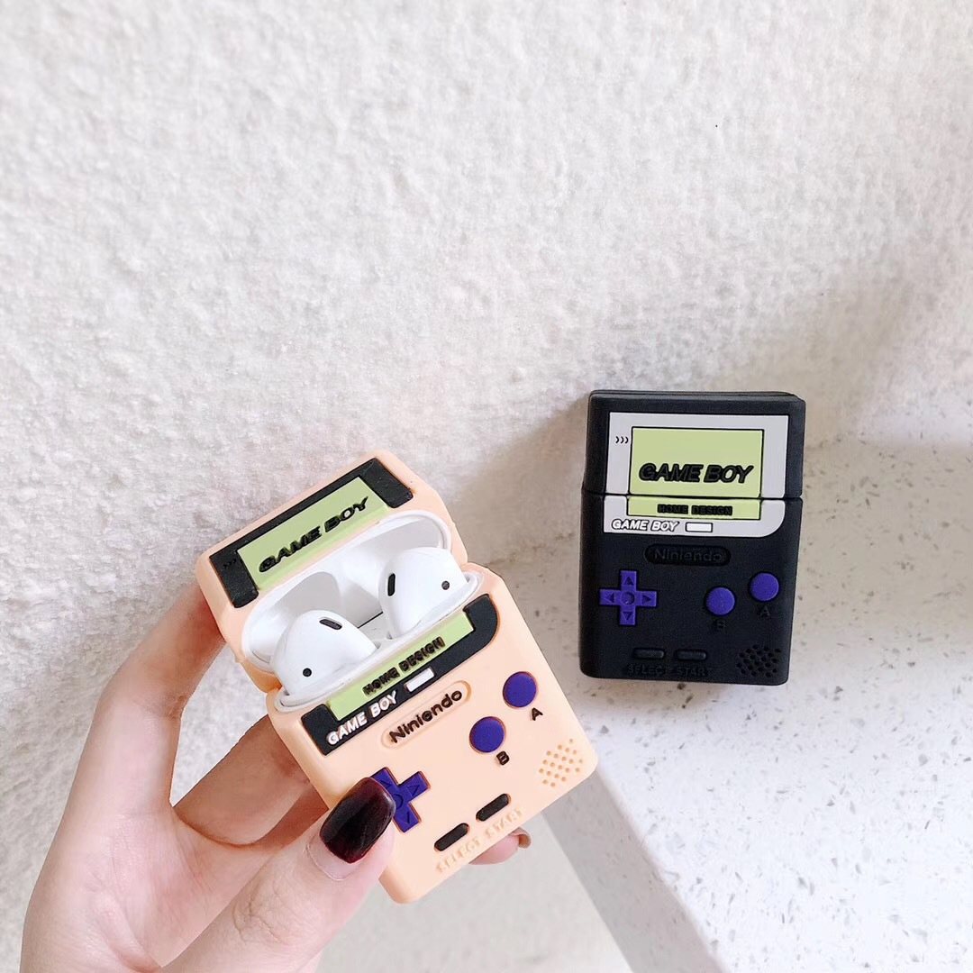 Classic retro game console For airpods <font><b>case</b></font> wireless <font><b>Bluetooth</b></font> <font><b>headset</b></font> set For airpods 1/2 <font><b>case</b></font> soft plastic charging <font><b>case</b></font> image