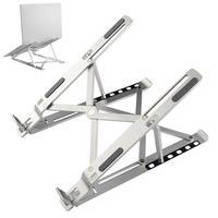 laptop Bracket Mount, Laptop Cooling Bracket Foldable Height Adjustment Table Stand Multifunctional Aluminum Alloy Holder