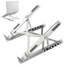 laptop Bracket Mount, Laptop Cooling Foldable Height Adjustment Table Stand Multifunctional Aluminum Alloy Holder