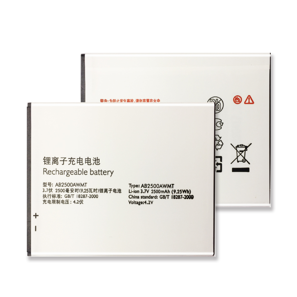 AB2500AWMT Battery For Philips S318 CTS318 Cellphone AB2500AWMT for XENIUM Smart Mobile 2500mAh