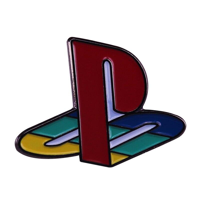 Нагрудная заколка Playstation game, яркие украшения для одежды и рюкзака, отличный маленький подарок для парня