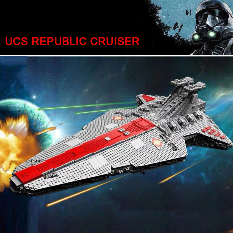 UPS 6125pcs <font><b>star</b></font> venator-class <font><b>wars</b></font> plan UCS republic attack cruiser 0577 starwars building blocks bricks toys for kids gifts image