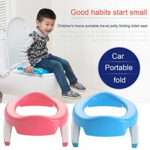 Folding Baby Potty Infant Kids Toilet Training Seat With Adjustable Ladder Portable Urinal Potty Training Seats For Children baby toilet seat folding children toddler potty toilet chair trainer with safety adjustable ladder step stools toilet training