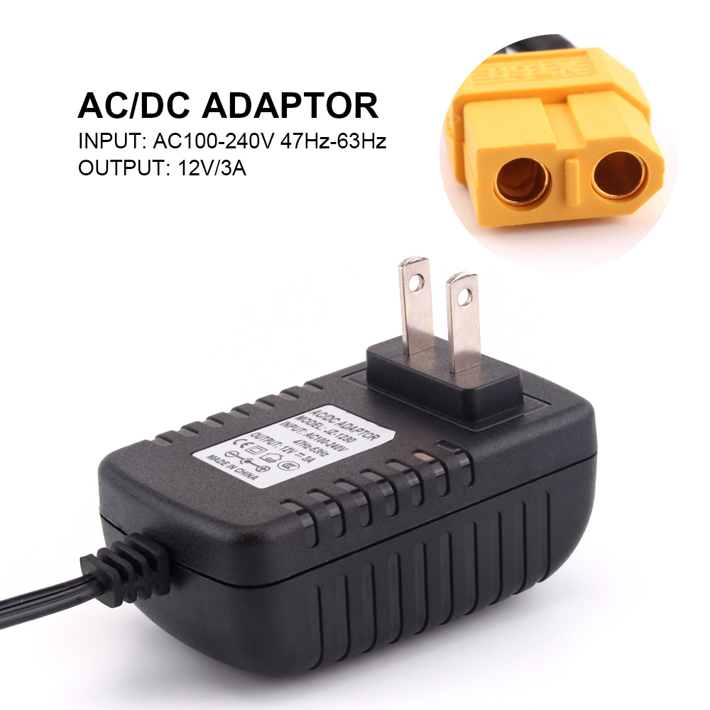 High Quality AC to DC Power Adapter 12V 3A XT60 Plug for STRIX Charger 1S Lipo Battery Charger image