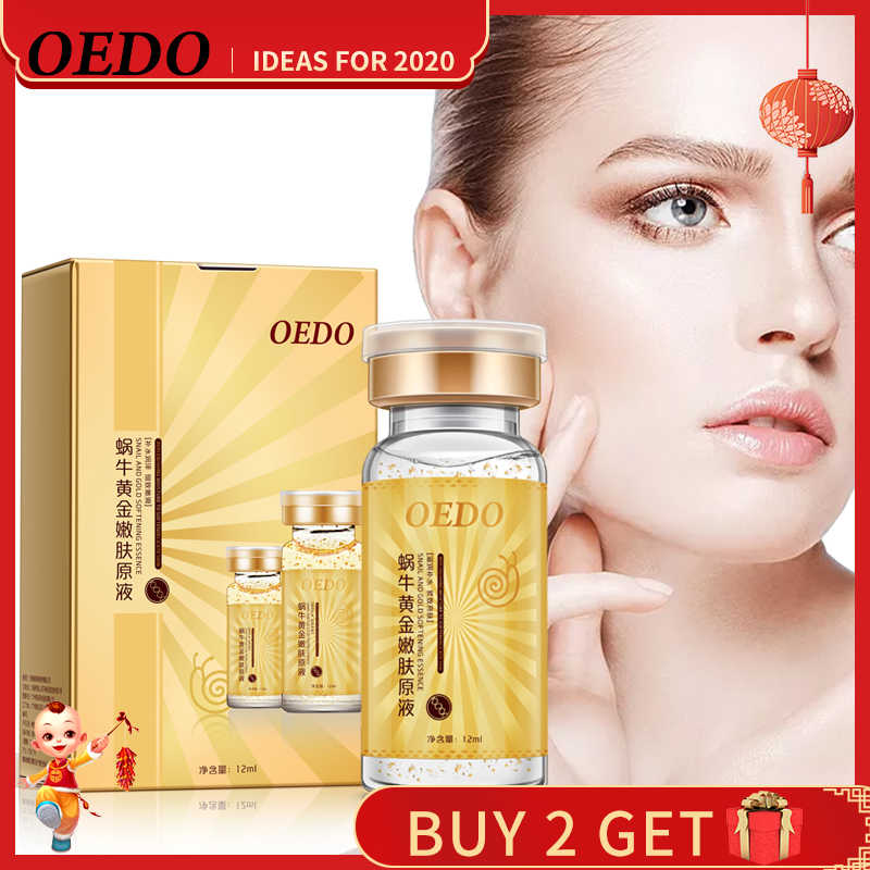 Anti-Aging Snail และ GOLD Essence Hydrating Hyaluronic Acid Moisturizers Treatment Face Care ครีมเซรั่มหอยทากบริสุทธิ์สารสกัดจาก