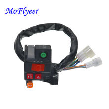 "MoFlyeer Motorcycle Switch 7/8"" 22mm Handlebar Mount High/Low Beam Light Turn Signal Horn Light Ignition Start Kill Switch"