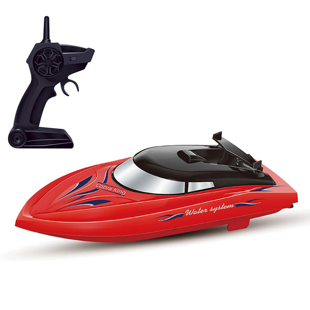 2.4G Remote Control Ship 10km/h High Speed Rowing Summer Boat Rechargeable Children Remote Control RC Speedboat Model Toy