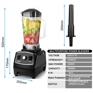 Image 3 - BPA FREE 3HP 2200W Heavy Duty Commercial Blender Juicer Ice Smoothie Professional Processor Mixer