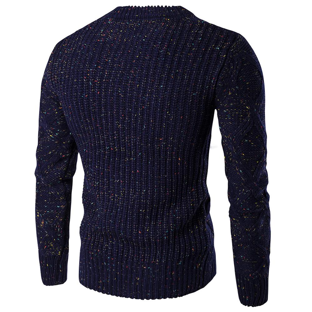 Hommes casual col rond pull automne hiver pull tricoté chandails