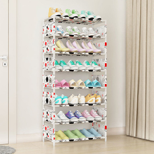 Shoe Rack Multi-Layer Household Shoe Rack Space Space Shoe Rack Assembly Special Dust-Proof Shoe Cabinet Dormitory Door Small Sh стоимость
