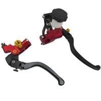 22mm Motorcycle Adjustable direct push pump brake lever anti wrestling handle electric motorcycle accessories For Honda Suzuki