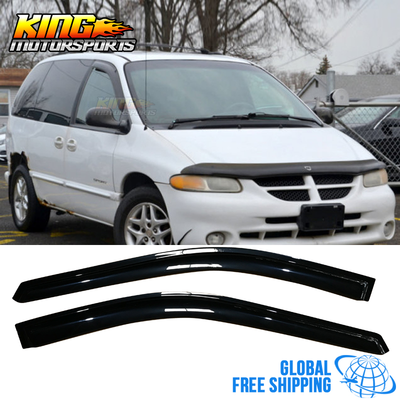 Fit For 96-07 Chrysler Town & Country Caravan Acrylic Window Visors 2Pc Set Global Free Shipping