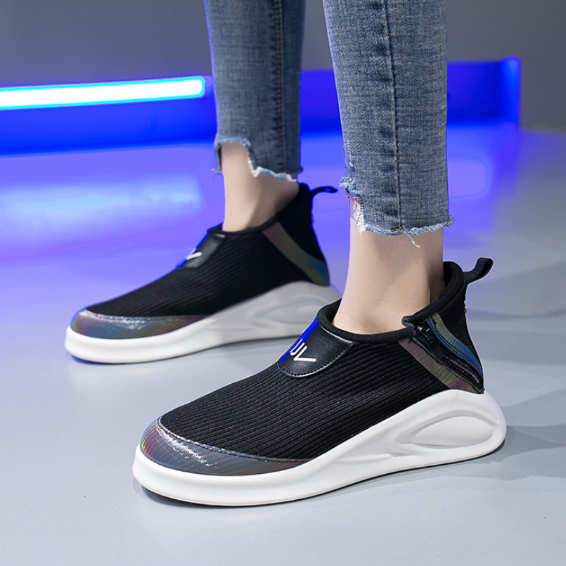 Women Vulcanized Shoes Fashion Wild Casual Sports Shoes Women Comfortable Breathable Mesh Sneakers Women Shoes Tenis Feminino