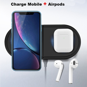 Image 5 - Fast QI Wireless Charger Pad for Samsung Galaxy Buds Watch Active Gear S2 S3 S4 Sport 2 In 1 Mobile Phone Quick Wireless Charge
