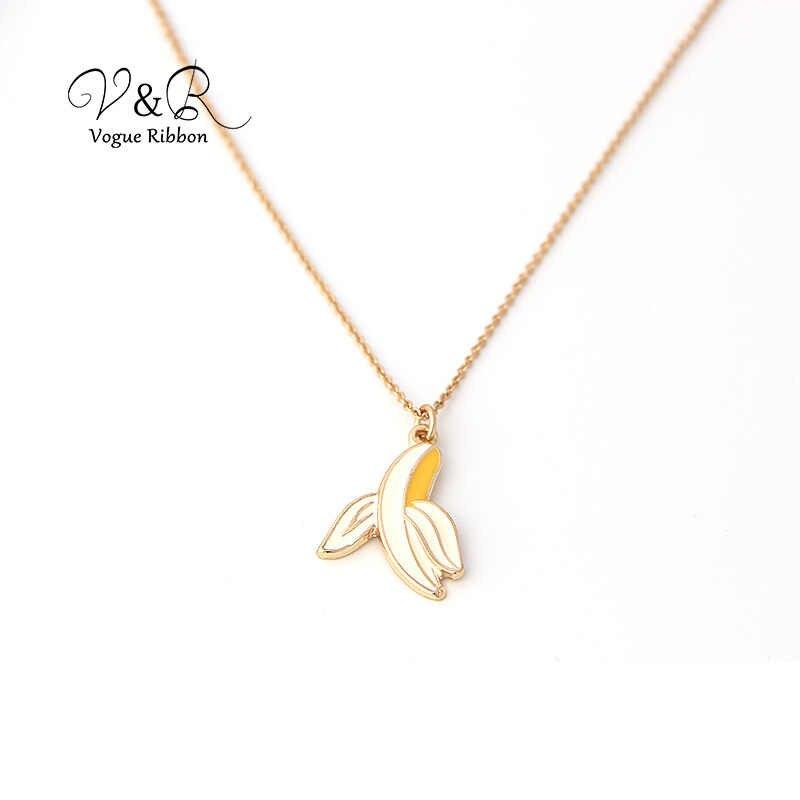 ทองคำ Chian สร้อยคอจี้กล้วย/เมอร์เมด/OMG ตัวอักษร/สับปะรด/Toucan 2019 ขนาดเล็กสร้อยคอแฟชั่น