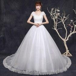 Gryffon Wedding Dress Classic Lace Appliques Court Train Lace Up Ball Gown Princess Luxury Wedding Gowns Vestido De Noiva