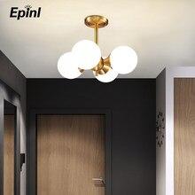 Moderna lâmpada do teto de cobre design restaurante quarto sala estar criativo led iluminação natal decoração para casa americano luminárias
