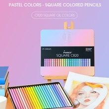 Marco 12/24 Colors SQUARE BODY Trendy Pastel Color Pencils Andstal oil Color Pencil Professional