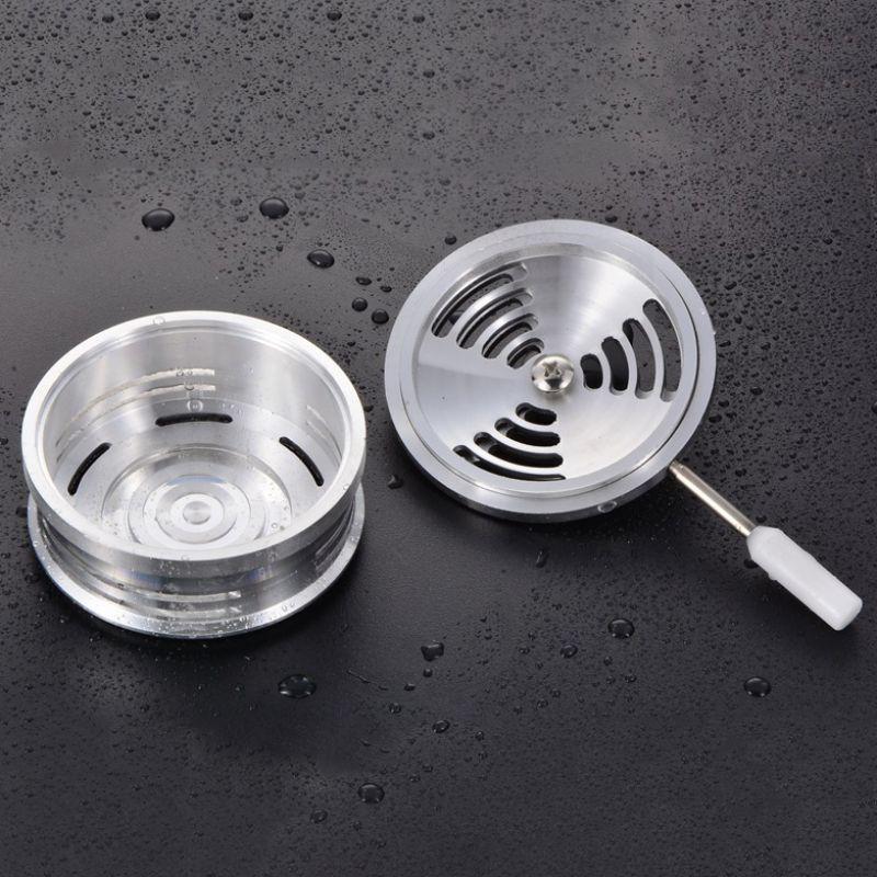 Высокотемпературная стойкая чаша кальяна из алюминиевого сплава табак для кальяна аксессуары для чаши с двойной ручкой Углеродные