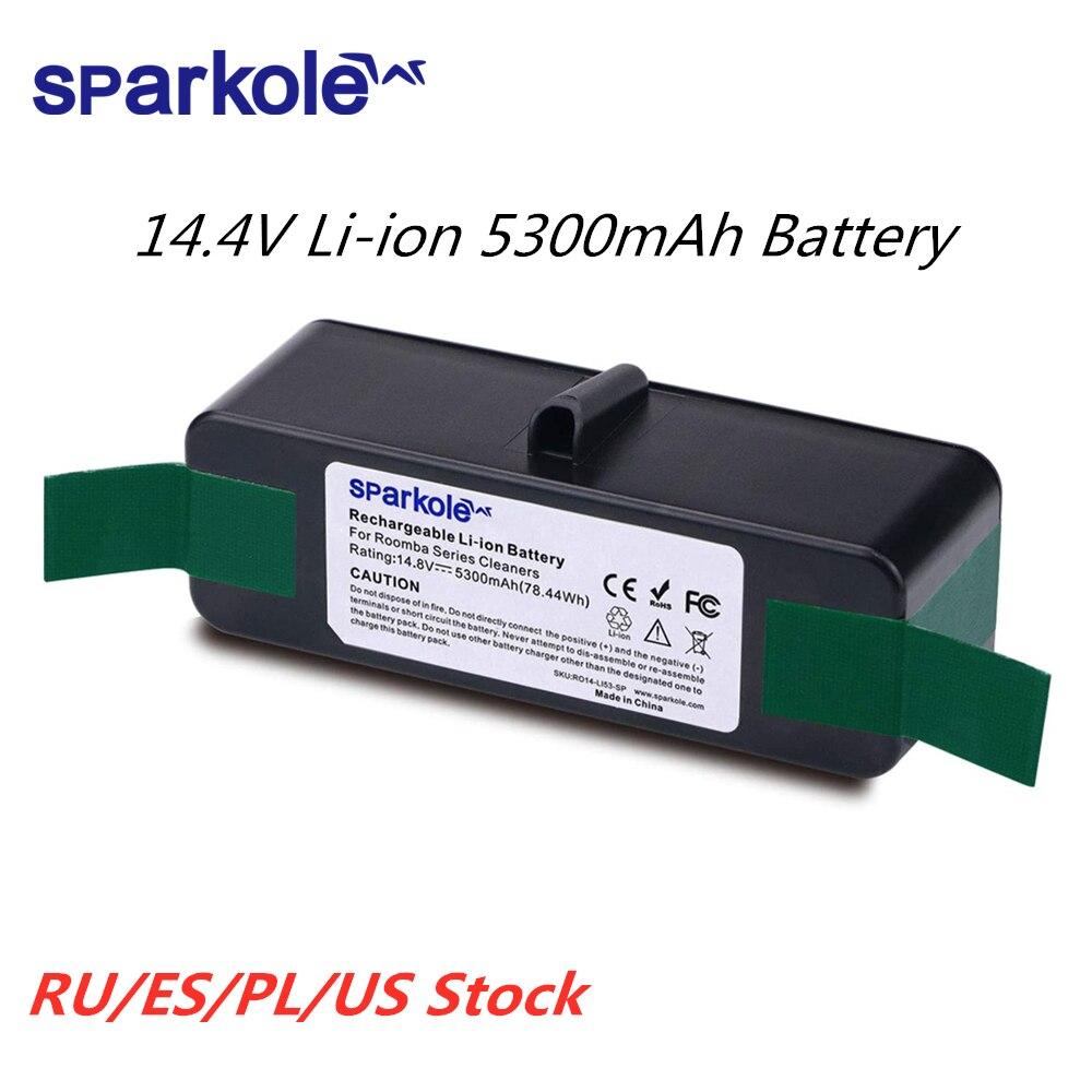 5.3Ah 14.8V Li-ion Battery For IRobot Roomba 500 600 700 800 Series 510 531 555 560 580 620 630 631 650 670 770 780 790 870 880
